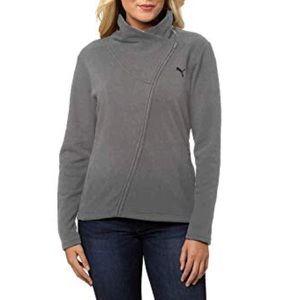 Puma asymmetrical zip sweatshirt jacket